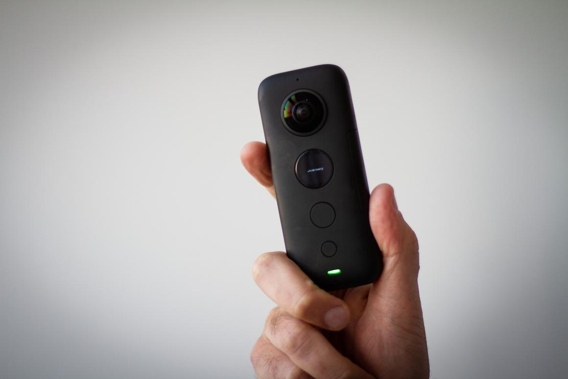 The small and portable Insta360 One X.