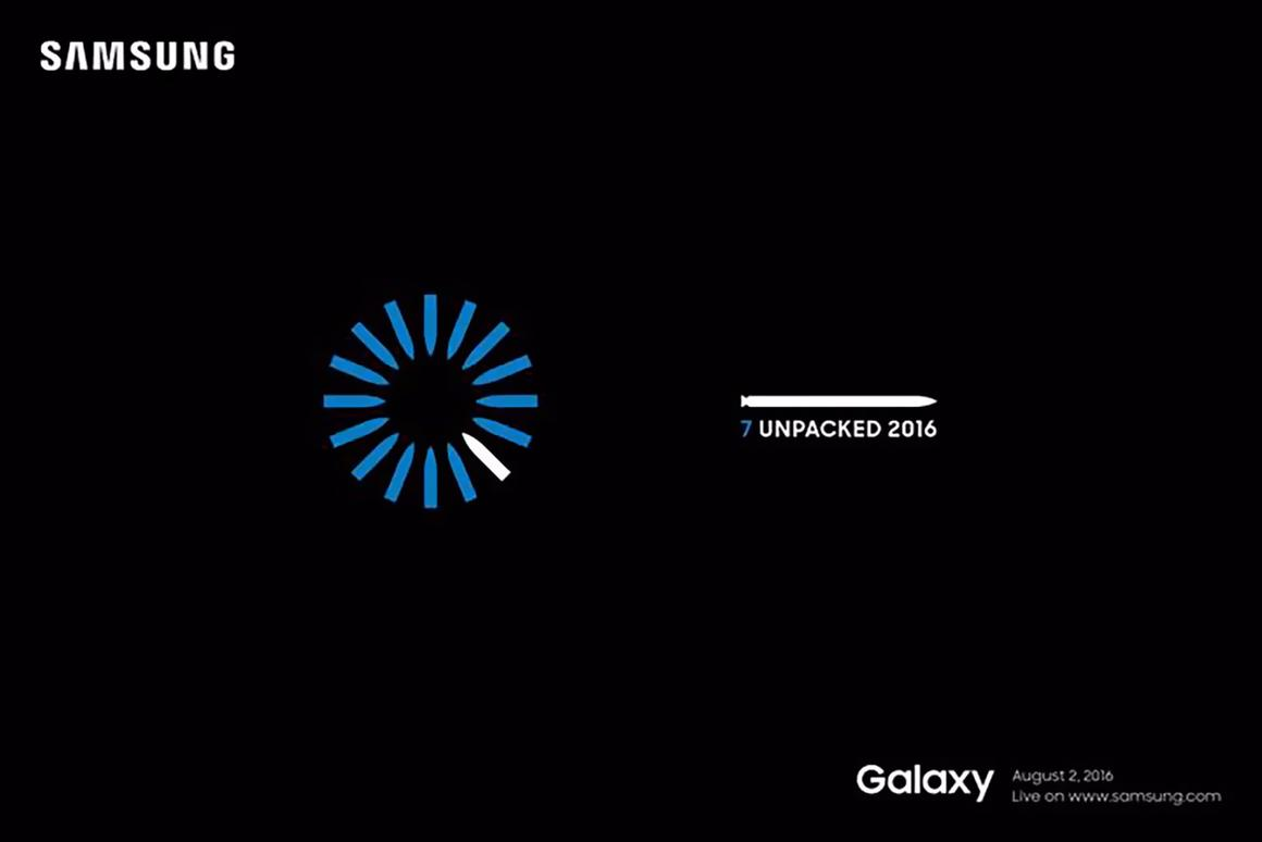 The invitation for next month's Galaxy Note event in NYC