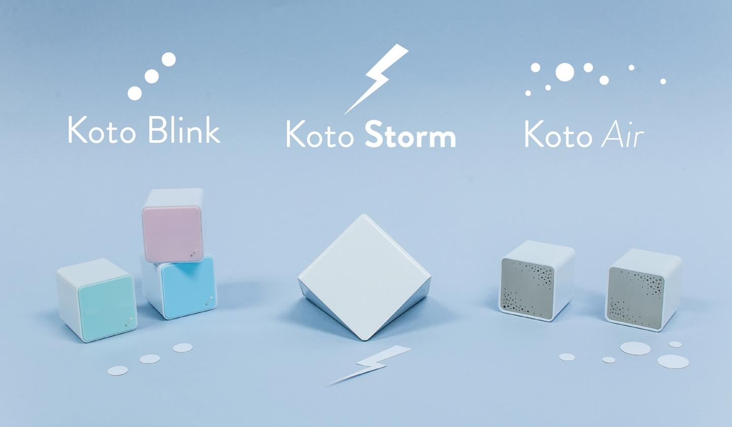 The Koto smart sensors will come in three versions: Blink, Air, and Storm