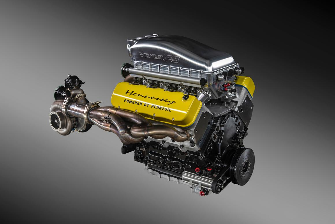 "Hennessey calls this engine the ""Fury,"" and has dyno tested it at more than 1,800 horsepower"