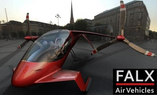 The falx hybrid-electric tilt-rotor concept in civilian trim.
