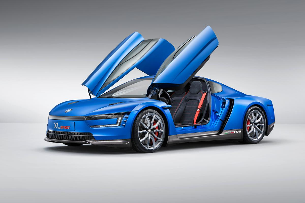 The VW XL Sport's aerodynamics help it achieve a high top speed from a relatively small engine