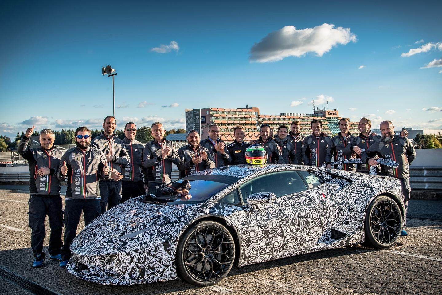 The Huracan Performante and the team behind its record-breaking lap