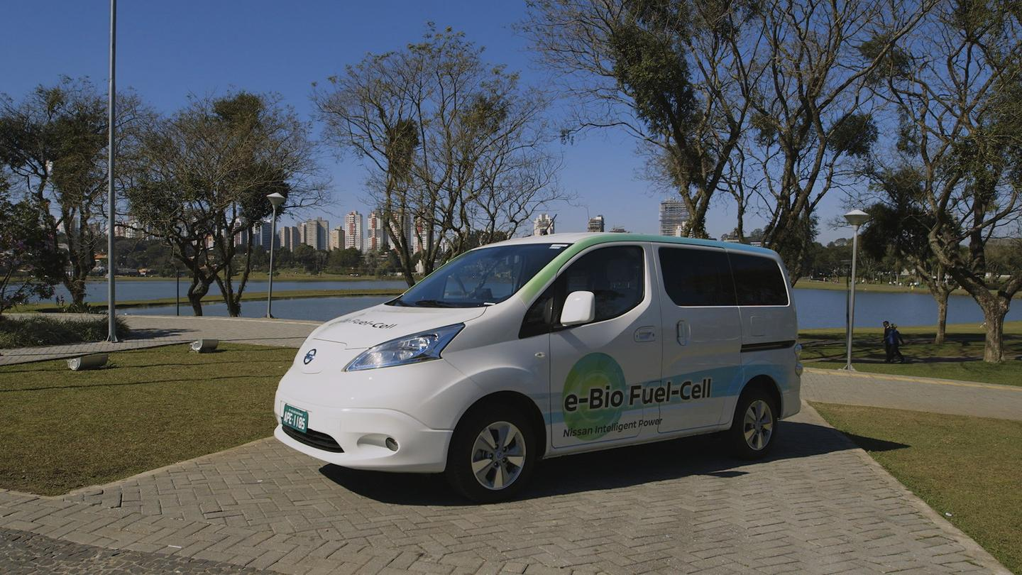 Nissan claims this e-NV200 can cover 600 km on a single tank
