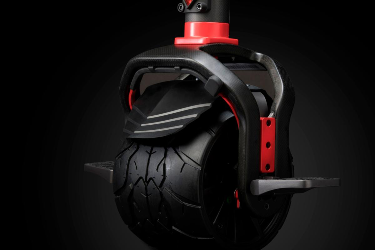 The Kiwano KO1+ has a 1,000 watt hub motor that rolls the electric monowheel up to 12 mph over grass, sand, dirt or pavement