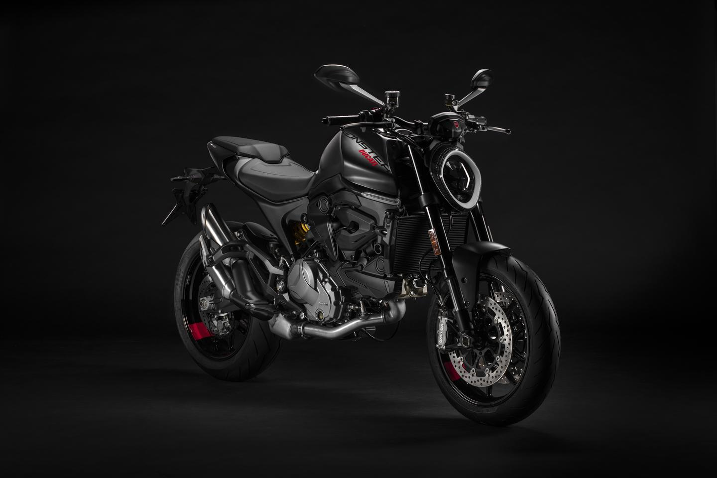 Ducati's 2021 Monster in Dark Stealth