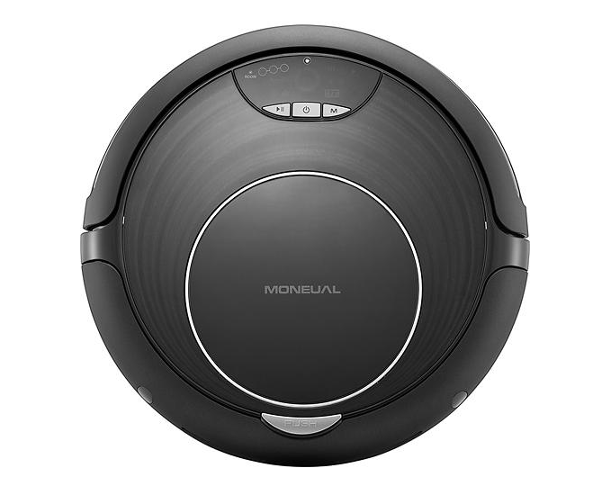 The top-down view of Moneual's Rydis H67 robot vacuum and mop