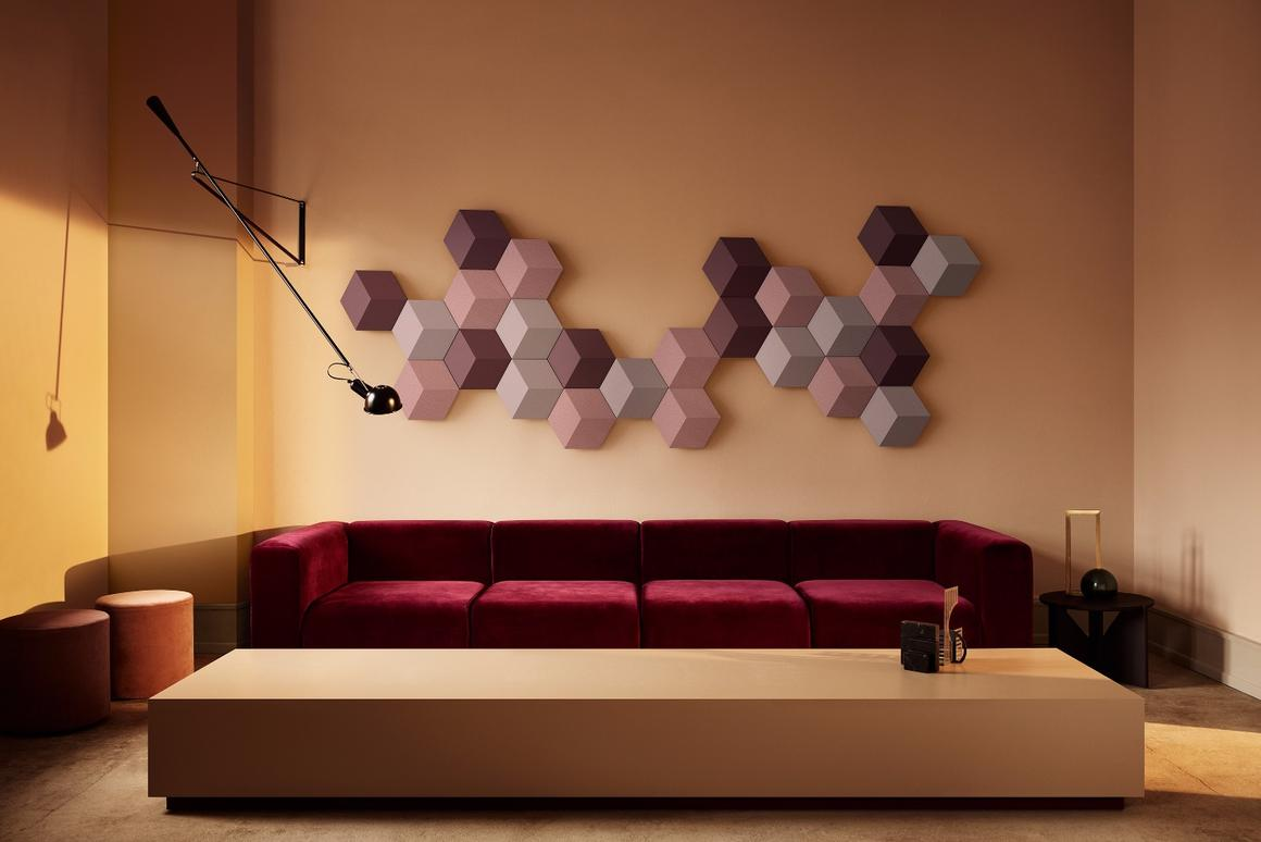 The B&O BeoSound Shape, complete with mixed-color tiles