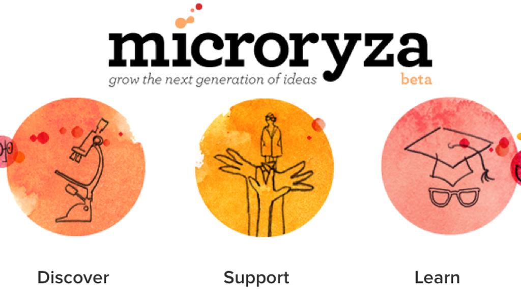 The newly-launched Microryza website brings crowd-funding to scientific research