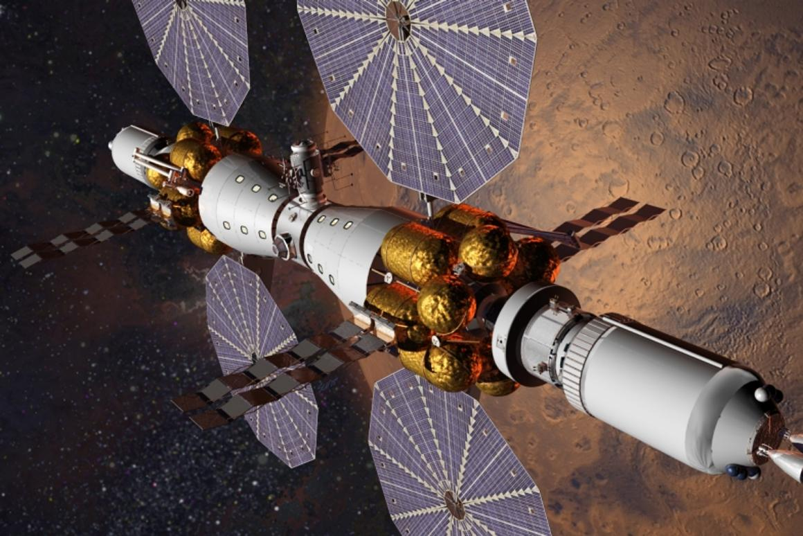 By 2028, Lockheed Martin plans to have astronauts in orbit around Mars in its Mars Base Camp space station