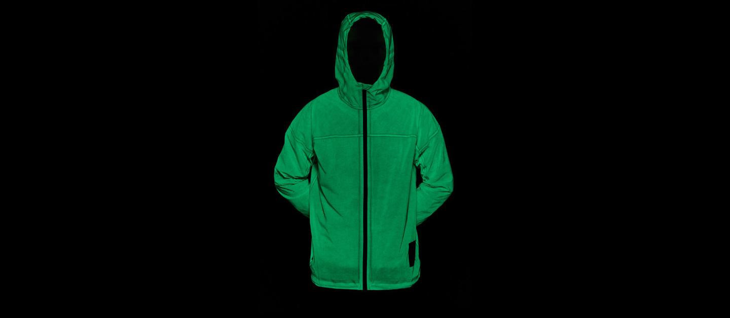 The company claim the jacket holds its glow for up to 12 hours