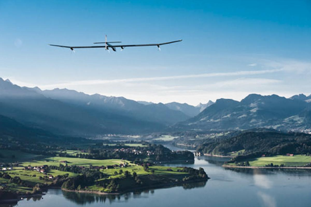 HBSIA during flight testing in Switzerland (Photo: Solar Impulse)