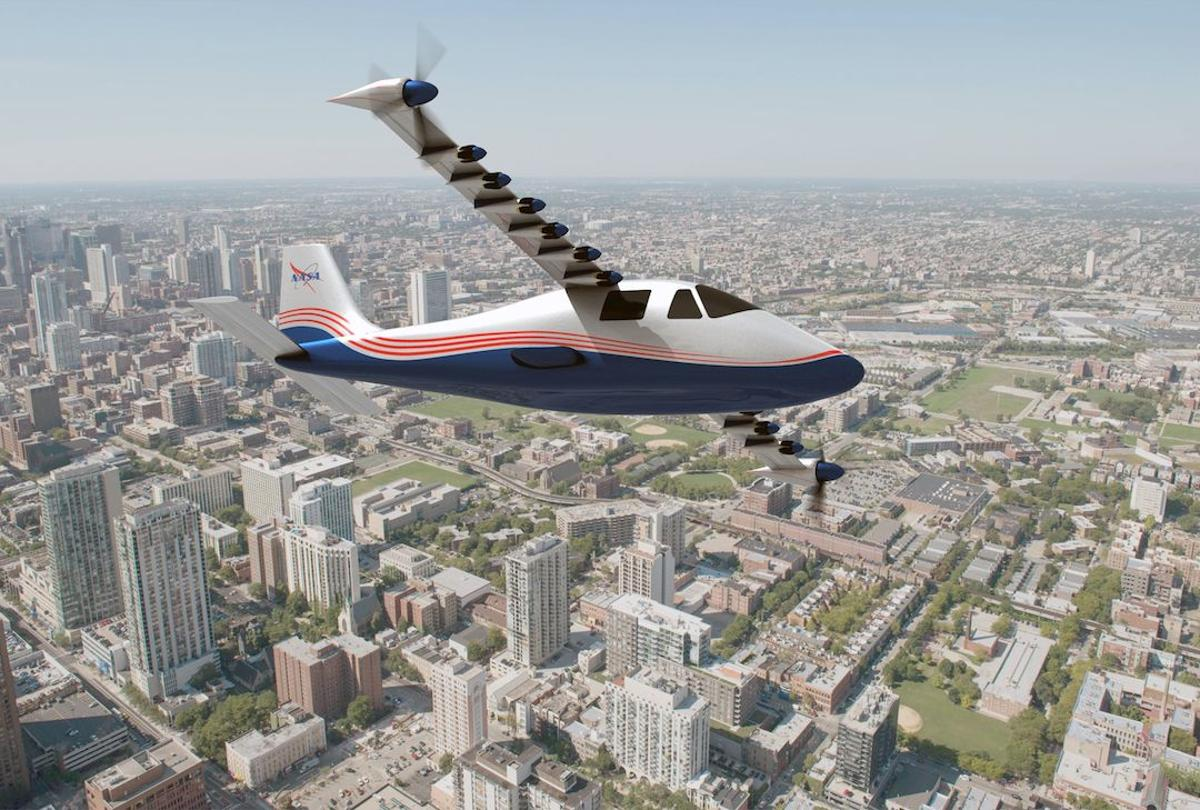 """The X-57, nicknamed """"Maxwell"""", is NASA's newest X-plane design, which will showcase greener propulsion technologies"""
