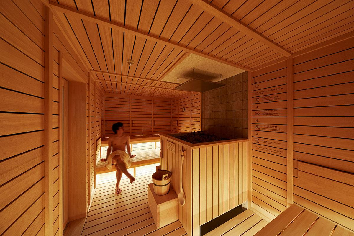 °C features a sauna imported from Finland
