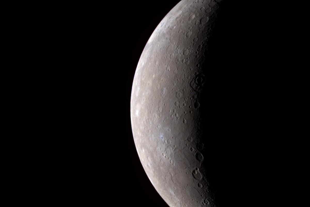 Mercury in color, seen by MESSENGER in 2008 (Image: NASA)