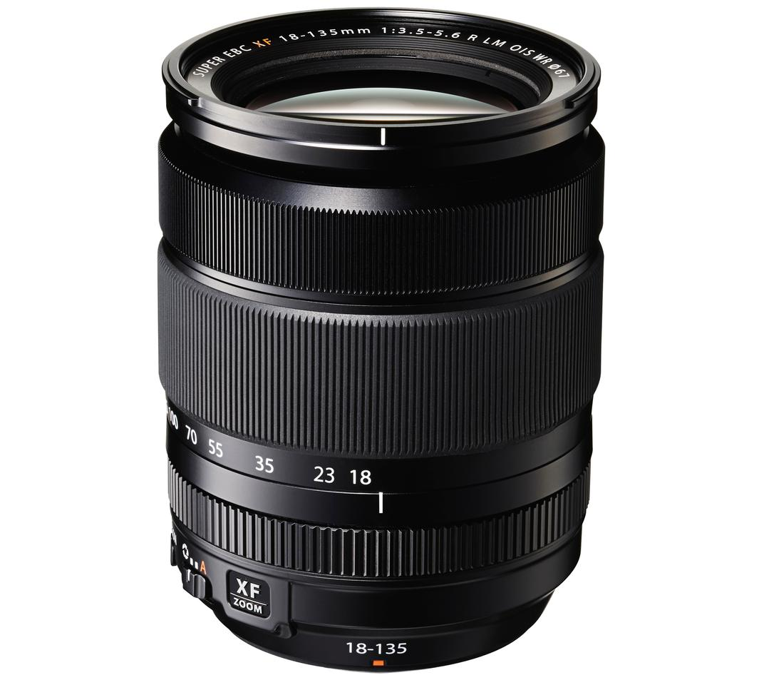 The Fujinon XF18-135-mm from Fujifilm has 16 lens elements in 12 groups, including four aspherical elements and two ED lenses
