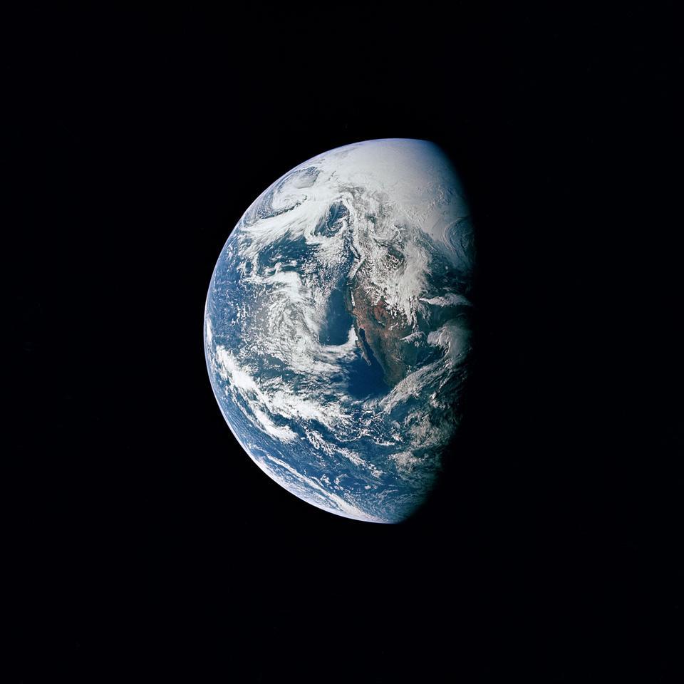 La Terre vue depuis Apollo 13