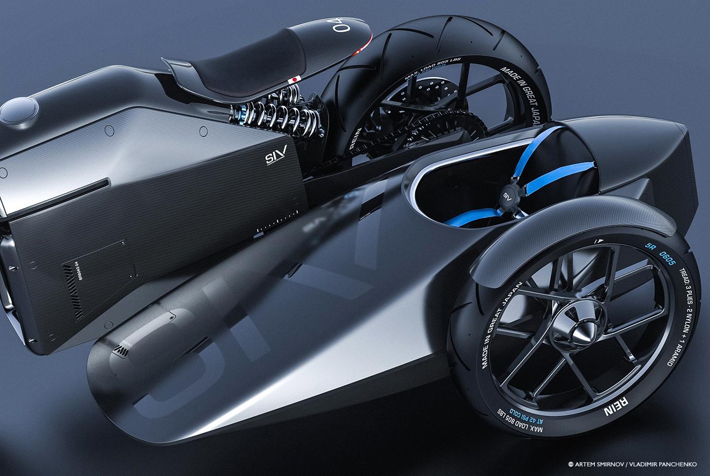 Samurai Motorcycle concept: sidecar