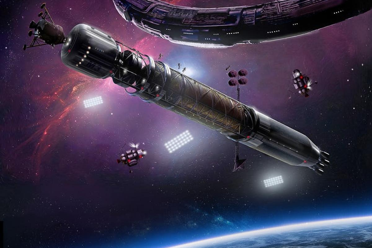 An artist's rendition of the eventual plans for Asgardia, which are far more advanced than the tiny little CubeSat that was just launched