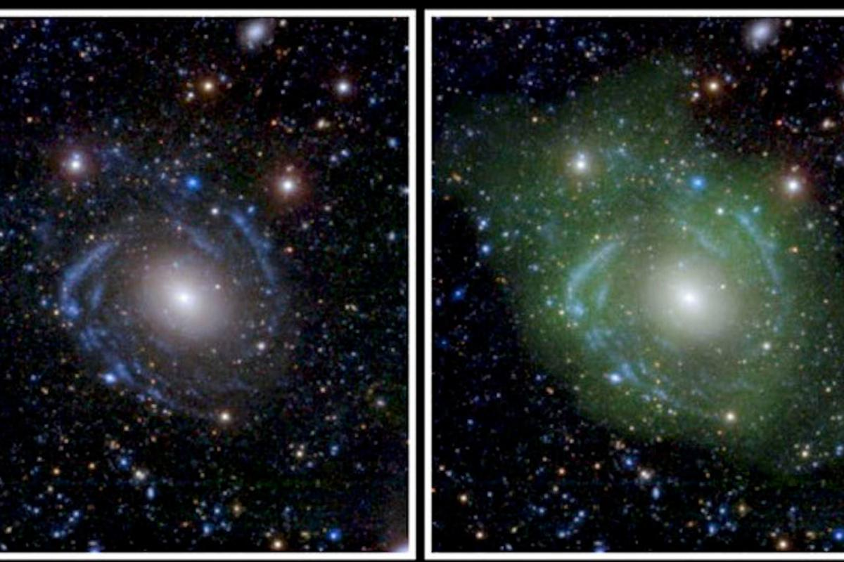 Astronomers observed spiral arms and low-density hydrogen gas surrounding the galaxy known as UGC 1382