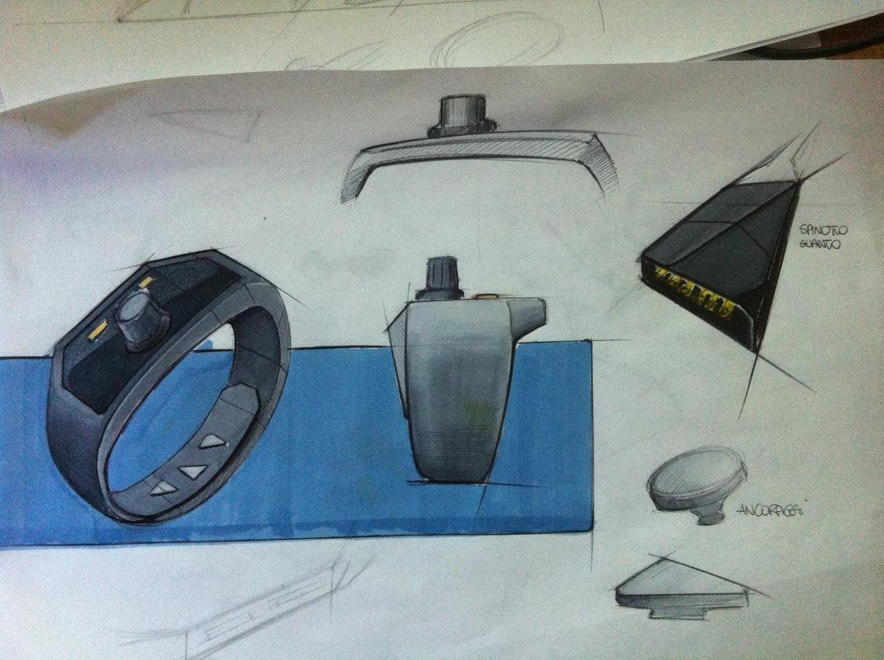 Design sketch during the development of the T8 MIDI controller