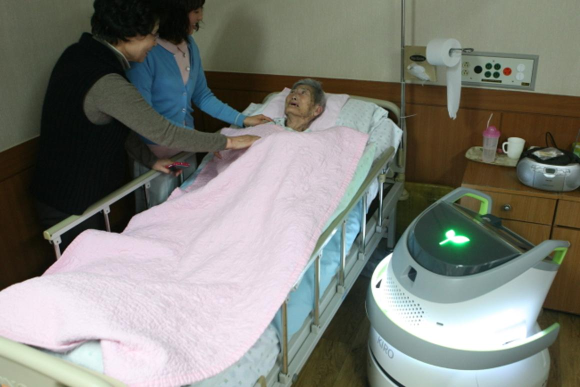 The KIRO-M5 can detect when a diaper has been soiled, alert the nursing staff, and then purify and sterilize the air
