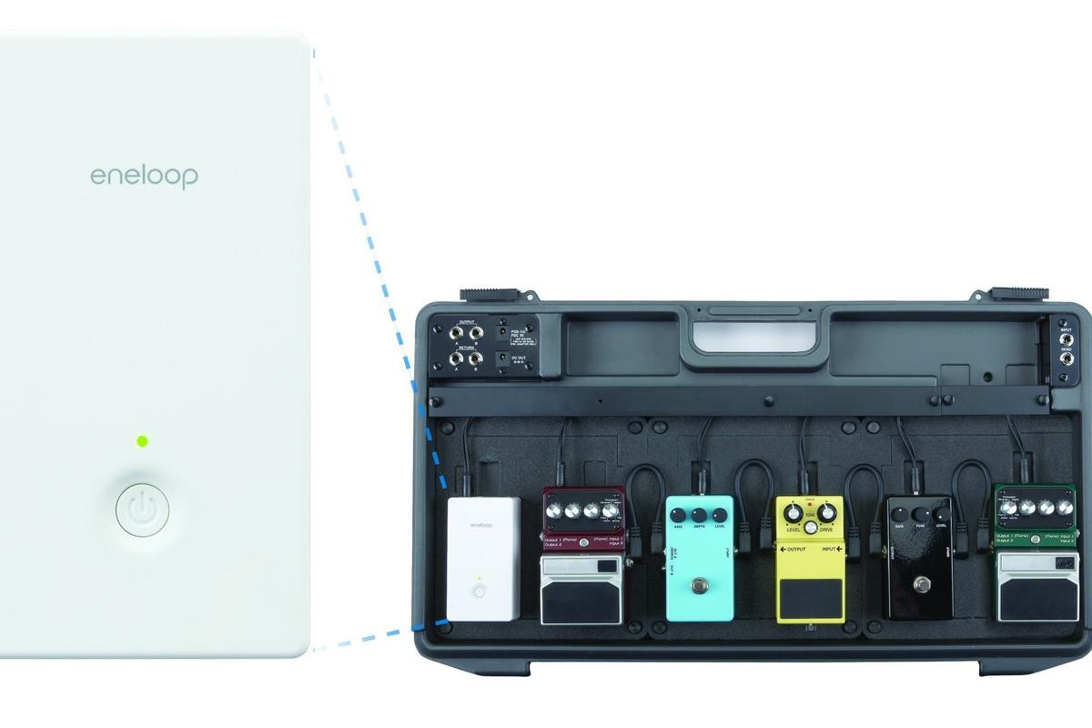 Sanyo's new Pedal Juice rechargeable power supply removes the need for a gig bag full of 9V batteries and also takes care of annoying hum caused by some AC outlets