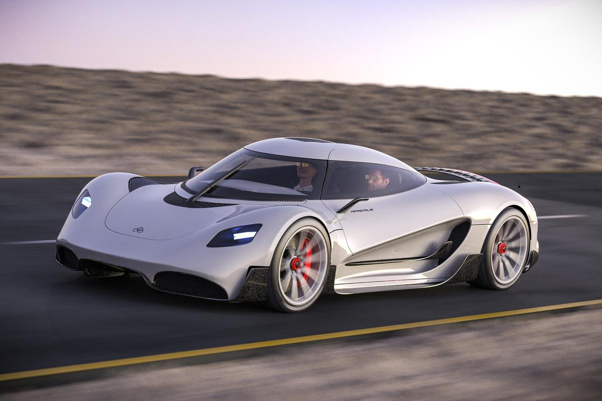 The Viritech Apricale: a hydrogen hypercar with a frame designed to incorporate high-pressure H2 storage