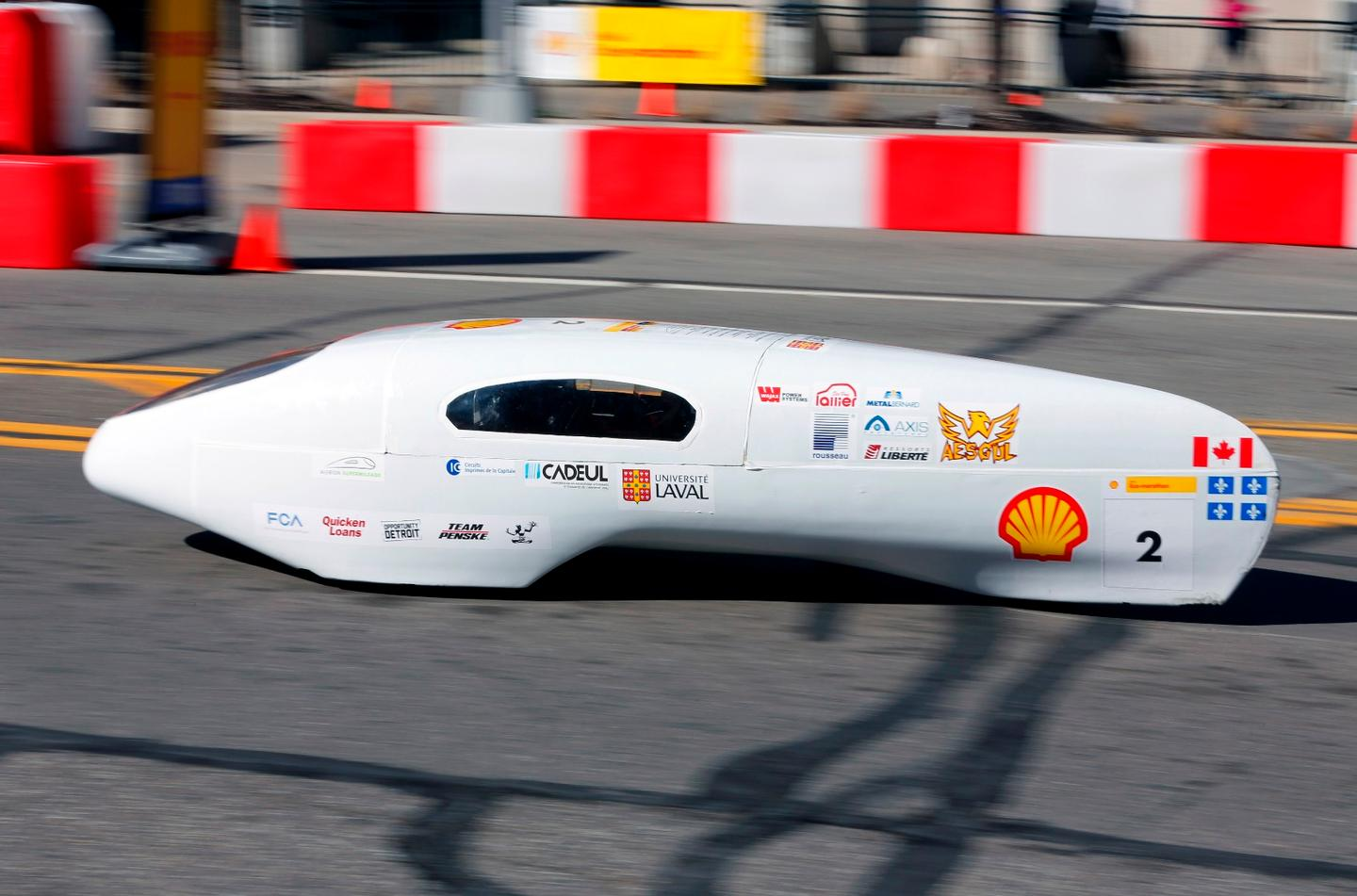 The Alérion Supermileage is made of carbon fiber