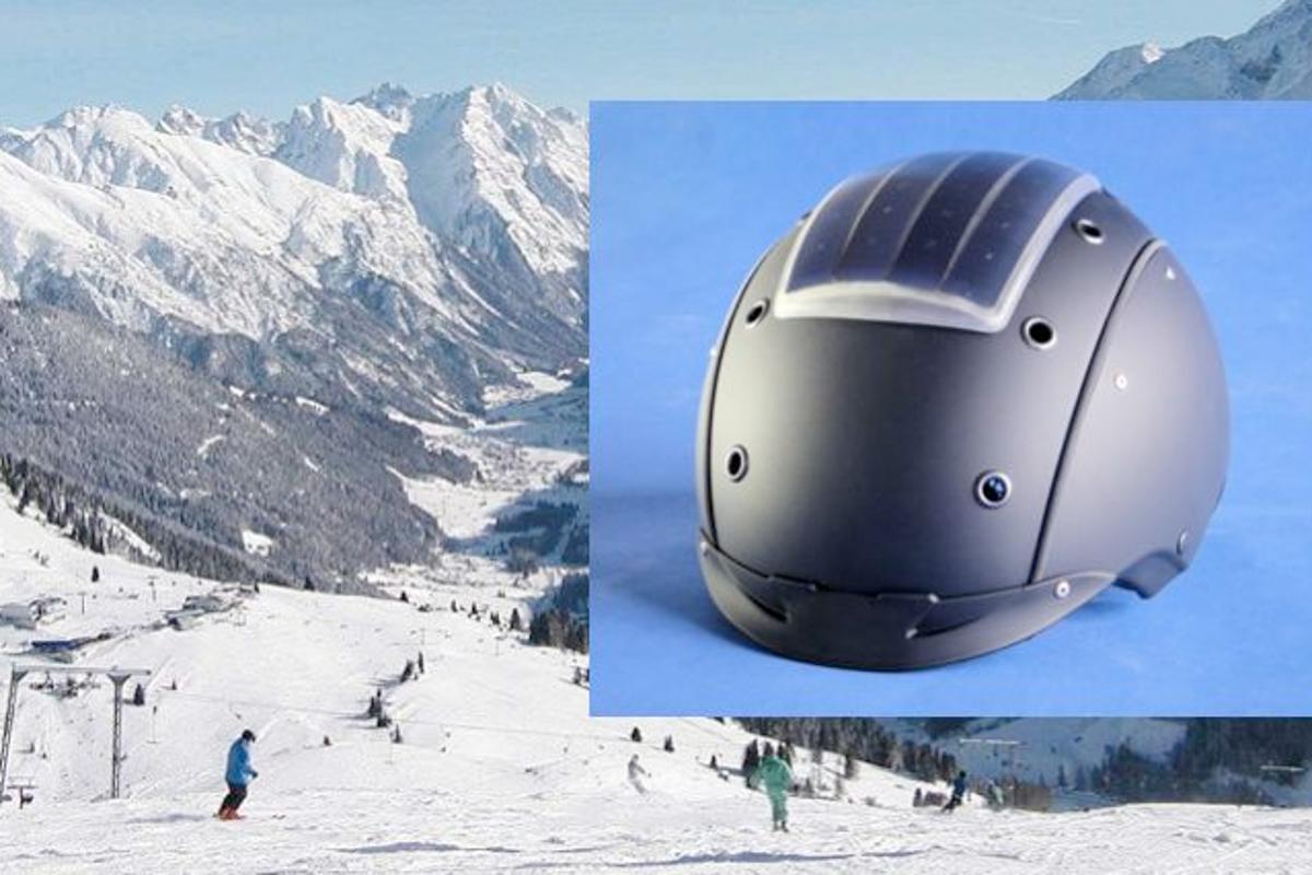 Fraunhofer has developed a solar-powered ski helmet-based communications system