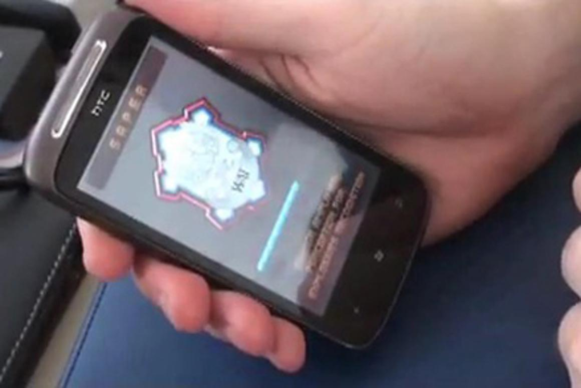 The SAPER mobile application uses the device's embedded magnetometer to turn a smartphone into an explosives detector