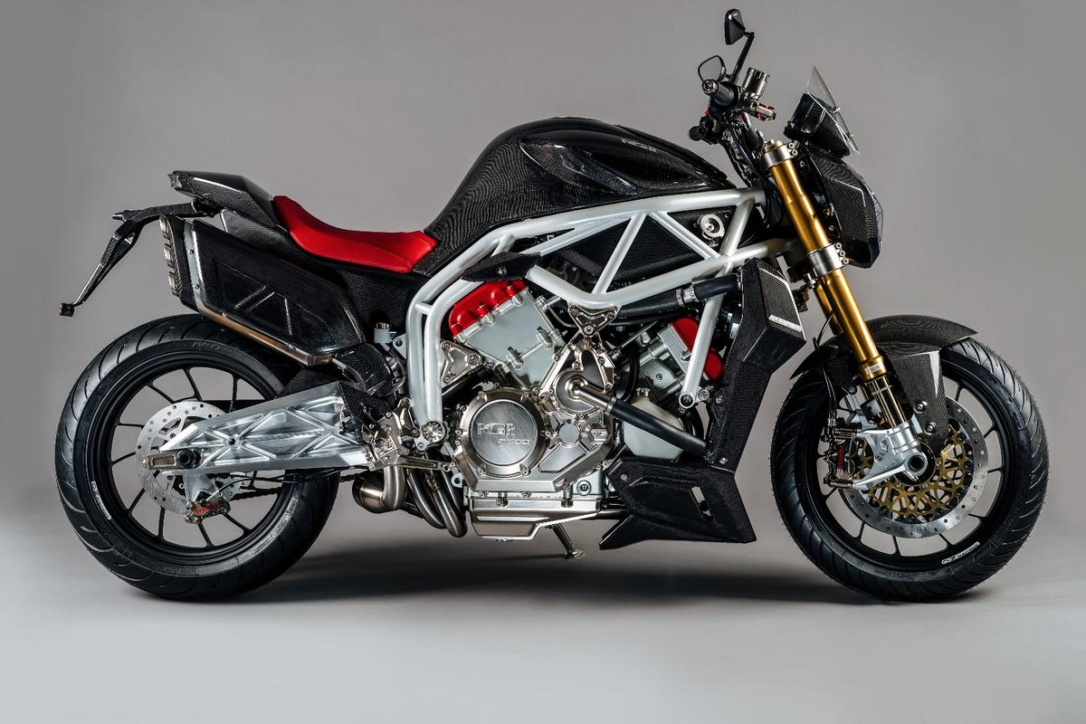The naked body shape accentuates that huge motor at the heart of the FGR Midalu