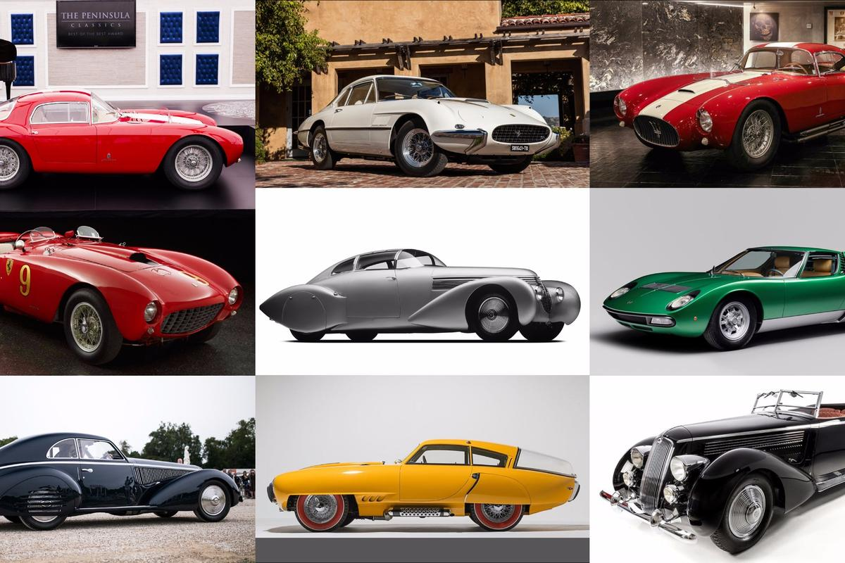 The best of the best finalists all won major concours d'elegance events during 2016