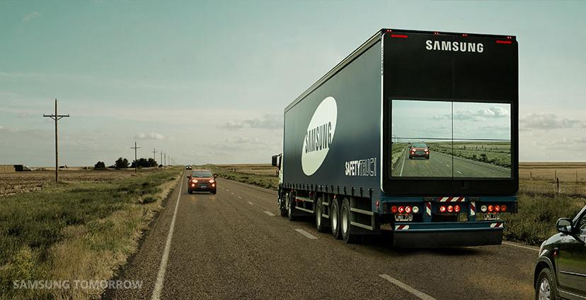 "Samsung's prototype ""Safety Truck"" offers view of the road ahead"