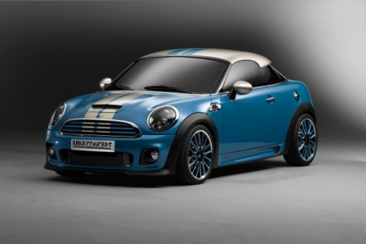 The Mini Coupe Concept will be revealed at the Frankfurt Motor Show in September. The release coincides with Mini's 50th birthday