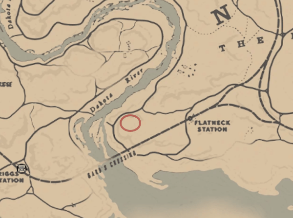 The stranger who clues you in can be found on a hill just east of Flatneck Station
