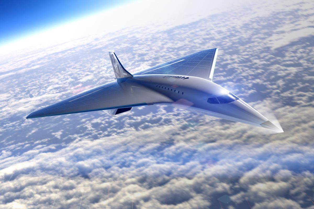 Virgin Galactic's supersonic passenger jet concept has a delta-wing design