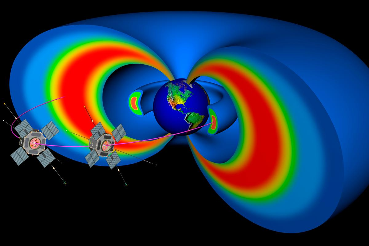 The RBSP mission will study the Van Allen Belts (Image: JHU/APL)