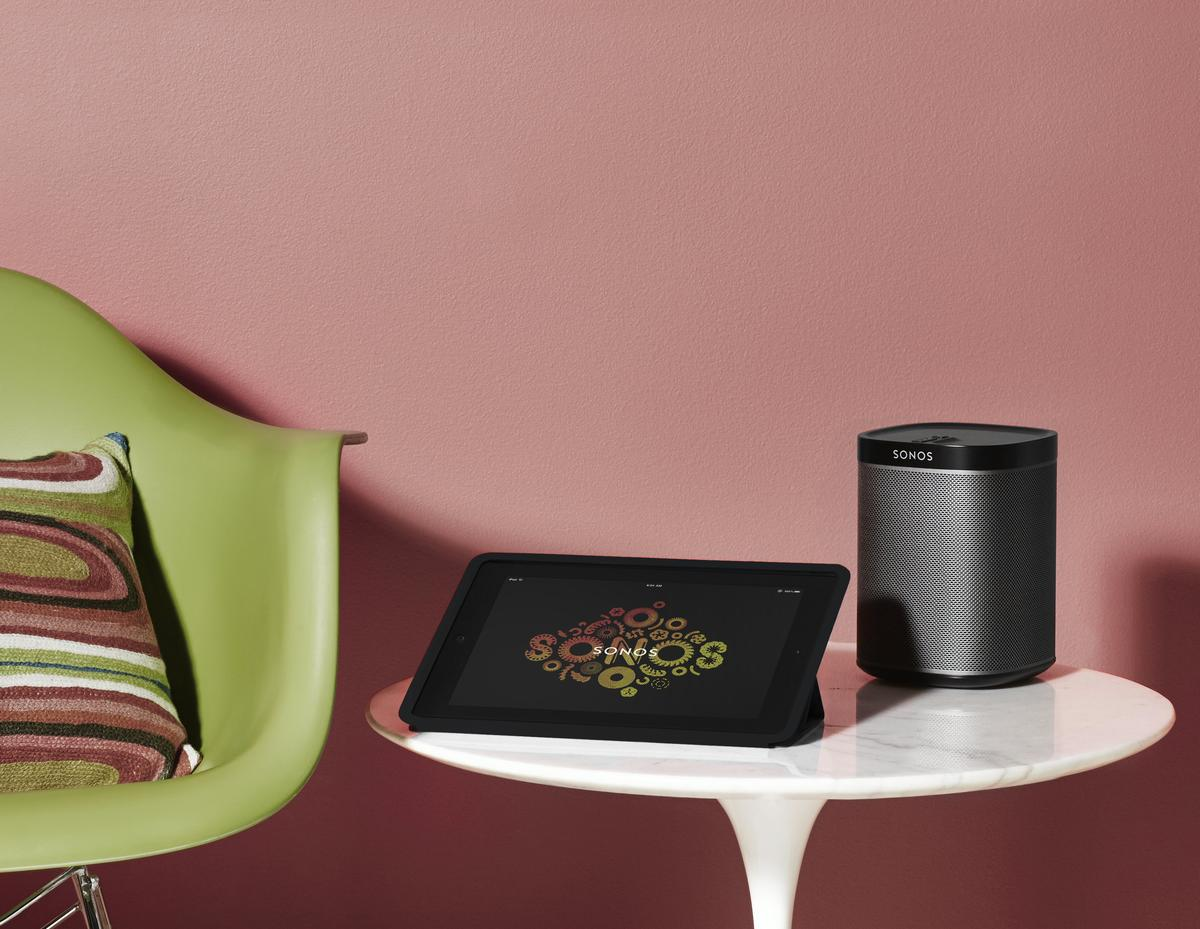 The Sonos Play:1 compact wireless speaker