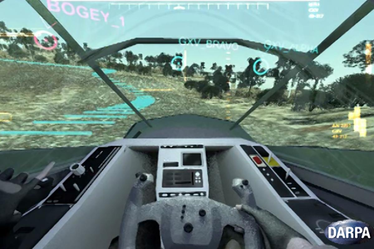 DARPA's concept provides the driver with a closed cockpit, that's equipped with visualization technologies (Image: DARPA)