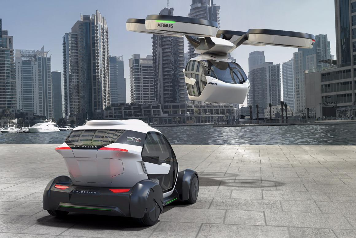 Italdesign and Airbus Pop.Up concept