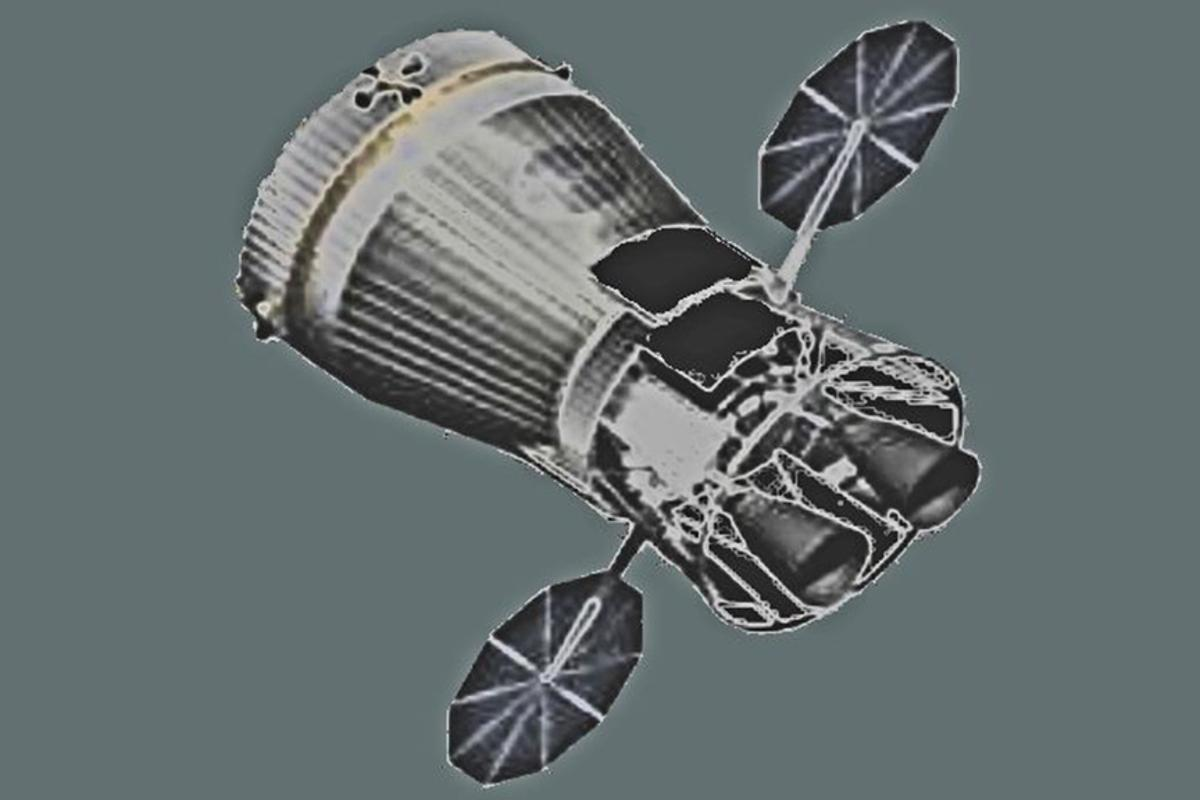 Artist's rendition of the Nuclear Cryogenic Propulsion Stage (NCPS), a nuclear engine intended primarily for the upper stages of launch vehicles and as primary propulsion for deep space missions (Photo: NASA)