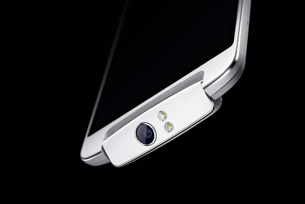 The Oppo N1, featuring a rotating camera module