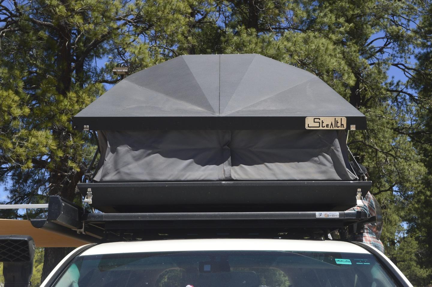 The new Stealth tent from Eezi-Awn features a distinctive aluminum shell