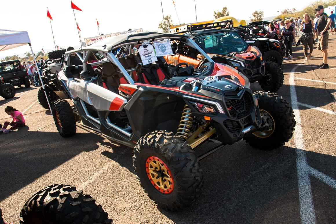 The Can Am Maverick X3 X RS is made for one purpose: to go flat out across the desert at break-neck speeds. The X RS is the only model Can Am offers currently with symetrical wheel sizes on all four corners, making it cheaper and easier to replace tires
