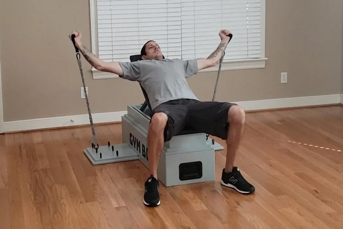 The Gym Box provides everything you need for a full body workout at home