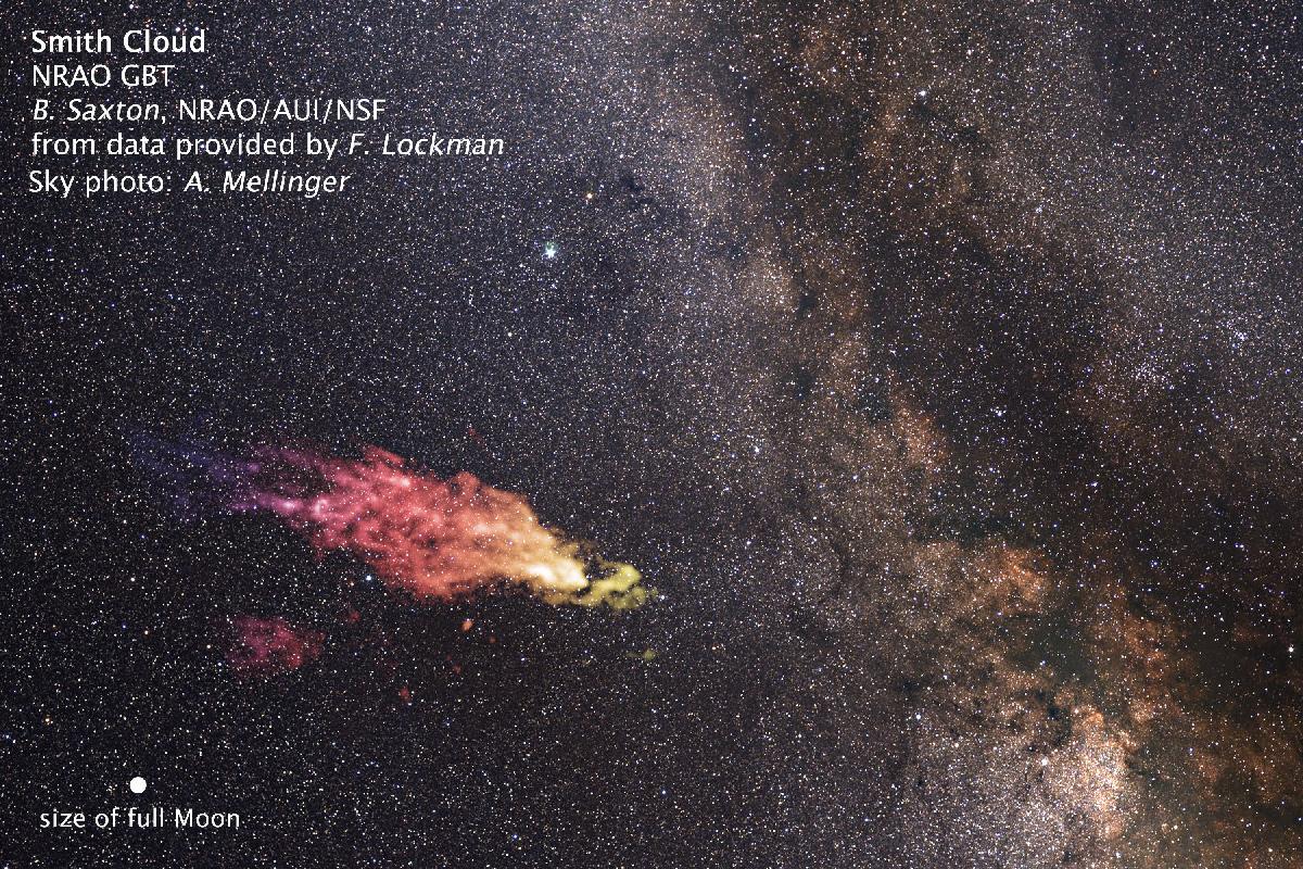 False-color composite image of the Smith Cloud