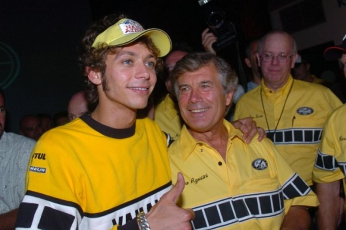Valentino and Giacomo Agostini pictured together in 2005 - without doubt the two greatest of all-time