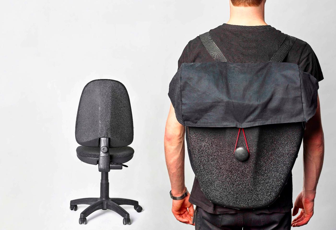 The Rest backpack – made (partially) from old office chairs