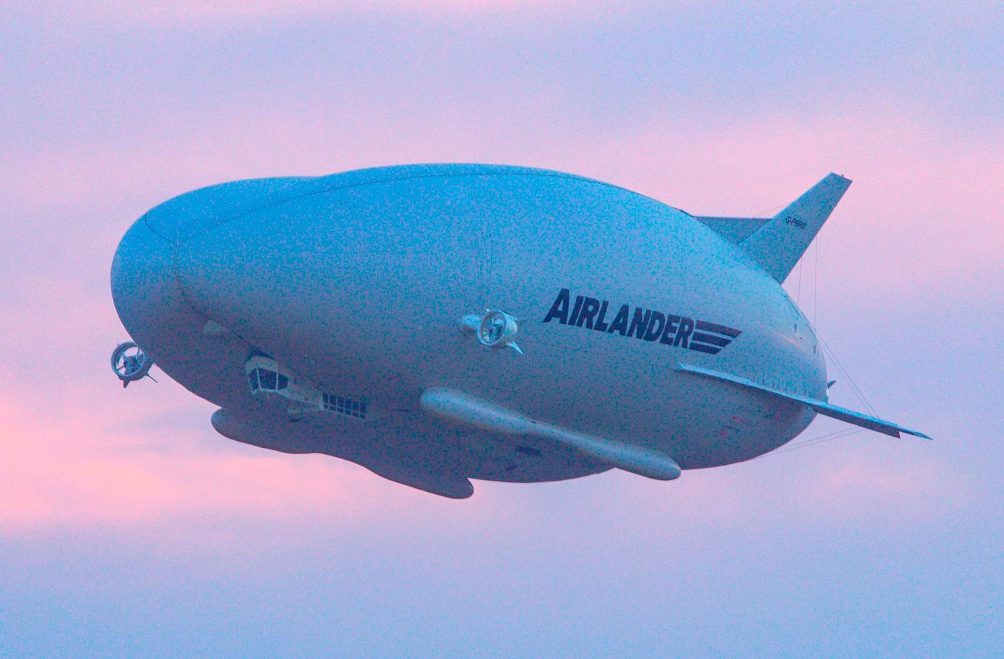 The Airlander 10 airship, prior to the installation of its Auxiliary Landing System